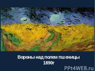 Вороны над полем пшеницы 1890г