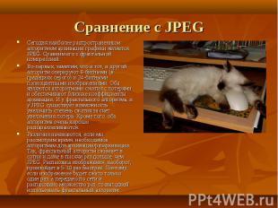 Сегодня наиболее распространенным алгоритмом архивации графики является JPEG. Ср