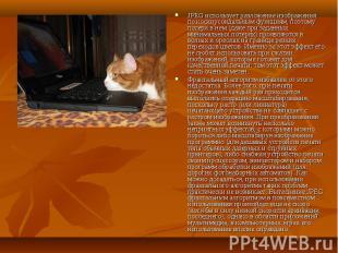 JPEG использует разложение изображения по косинусоидальным функциям, поэтому пот