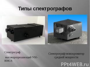 Типы спектрографовСпектрограф высокоразрешающий NSI-800GS