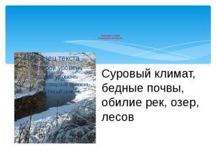 Природные условия Новгородская республики
