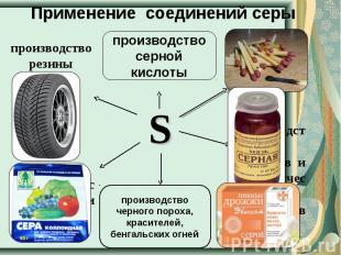 Применение соединений серы производство резины производство серной кислоты произ