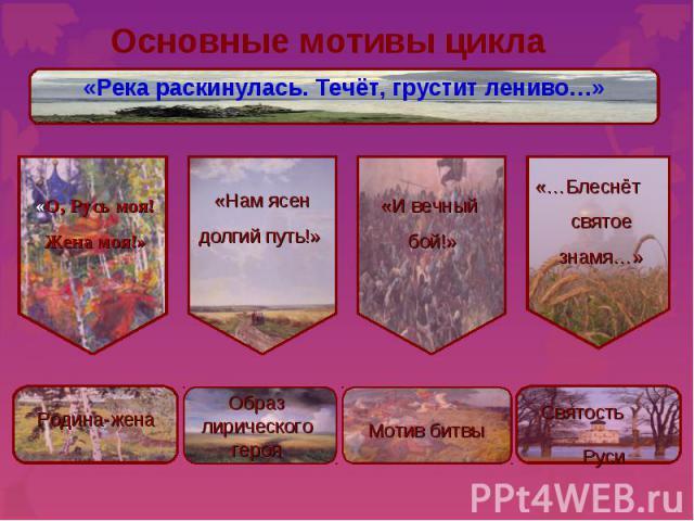 Основные мотивы цикла