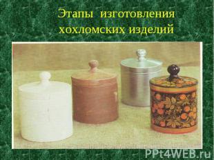 Этапы изготовления хохломских изделий