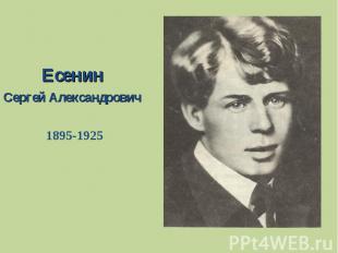 Есенин Сергей Александрович1895-1925