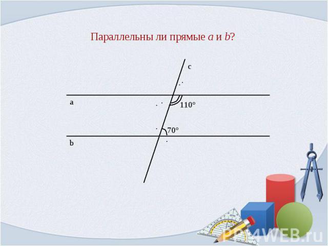 Параллельны ли прямые a и b?