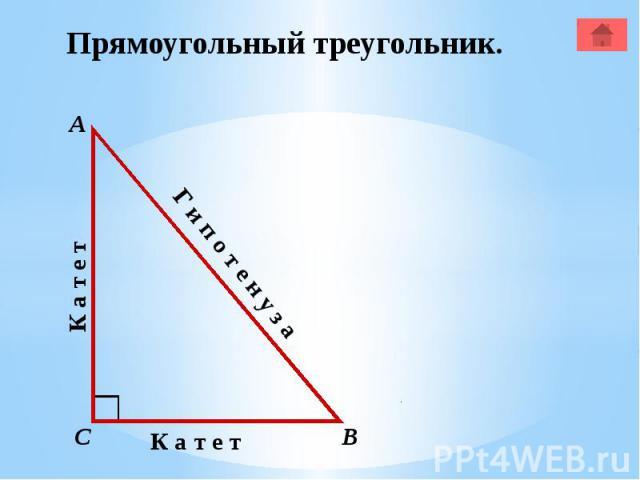 Прямоугольный треугольник.