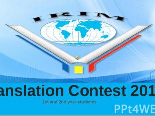 Translation Contest 2015 1st and 2nd year studends