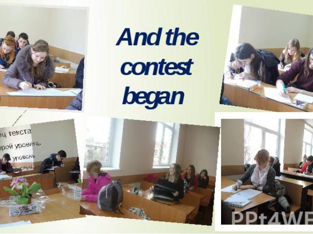 And the contest began