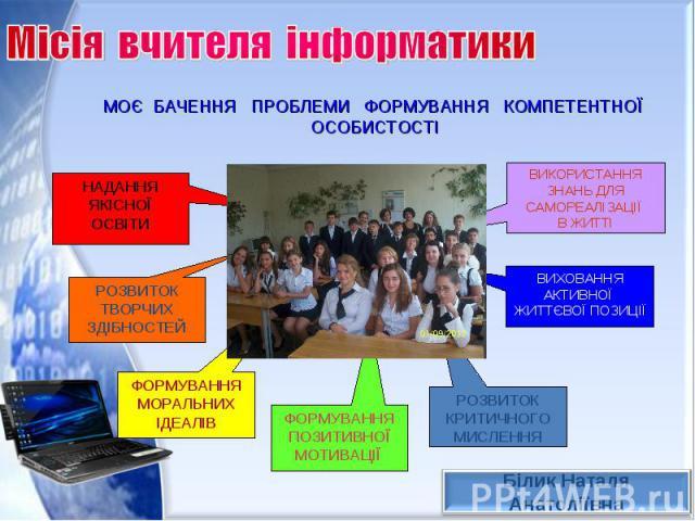 Місія вчителя інформатики