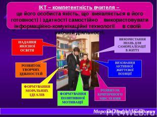 ІКТ – компетентність вчителя – це його особиста якість, що виявляється в його го