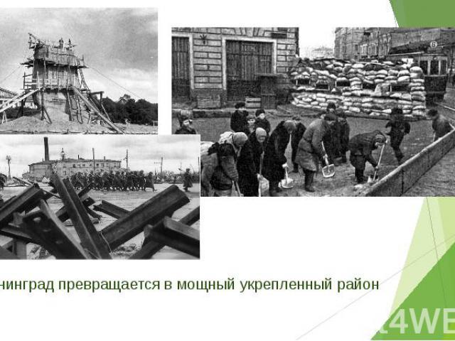 Ленинград превращается в мощный укрепленный район Ленинград превращается в мощный укрепленный район