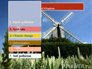 Ecological problems in United Kingdom 2. Water pollution