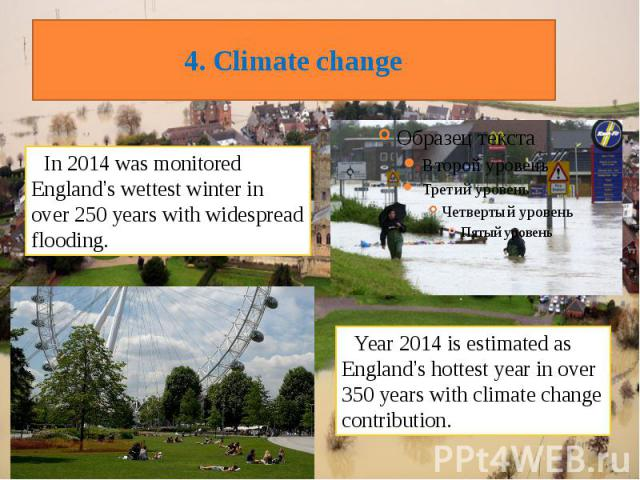 4. Climate change