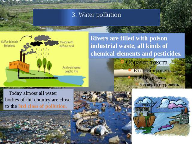 3. Water pollution