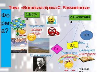 Тема: «Вокальна лірика С. Рахманінова»