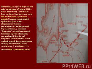Шылавічы, як і ўвесь Ваўкавыскі раён вызвалялася ў ліпені 1944 г. Баі за нашу вё