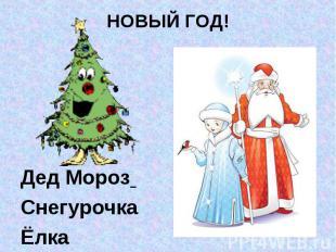 Дед Мороз Снегурочка Ёлка