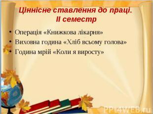 Операція «Книжкова лікарня»Операція «Книжкова лікарня»Виховна година «Хліб всьом