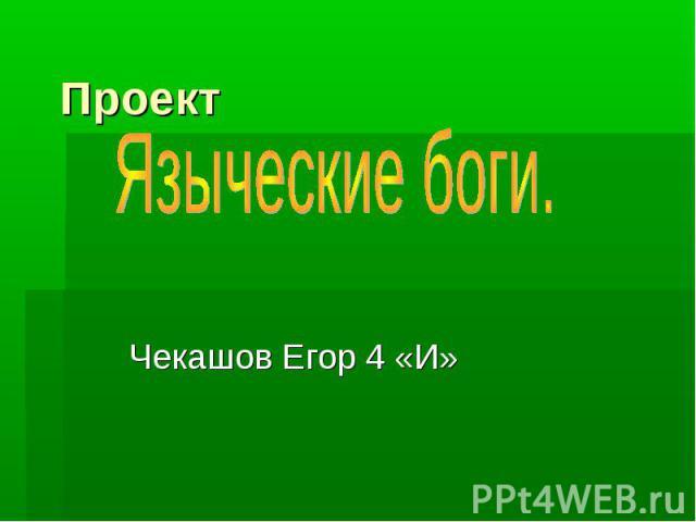 Проект Чекашов Егор 4 «И»