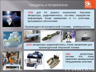ЦВМ для КА разного назначения, бортовая аппаратура, радиокомплексы, системы пере