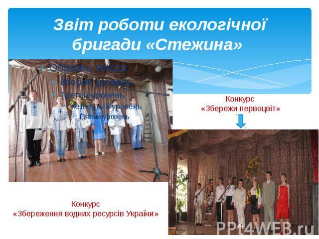 Звіт роботи екологічної бригади «Стежина»
