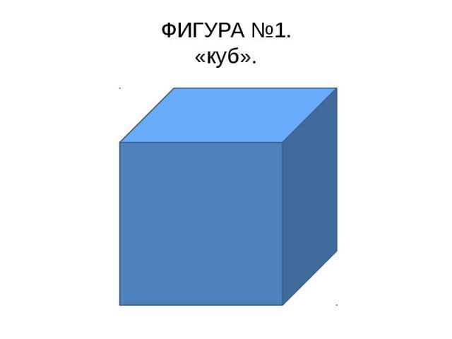 ФИГУРА №1.«куб».