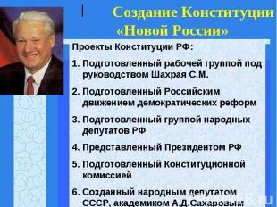 Проекты Конституции РФ:Подготовленный рабочей группой под руководством Шахрая С.