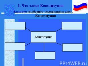 Задание: подберите ассоциации к слову Конституция