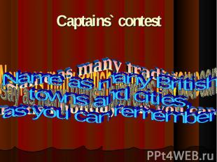 Captains` contest