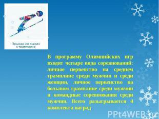 В программу Олимпийских игр входят четыре вида соревнований: личное первенство н
