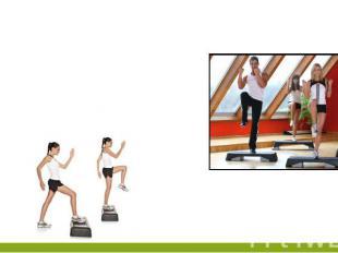 Упражнение №3Согните правую ногу в колене и установите ее на степпер, сделайте д