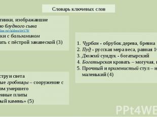 Картинки, изображавшие историю блудного сына http://bibleonline.ru/children/ibt/