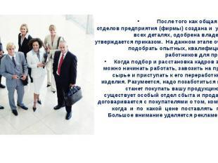 После того как общая схема всех отделовпредприятия(фирмы) создана и уточнена