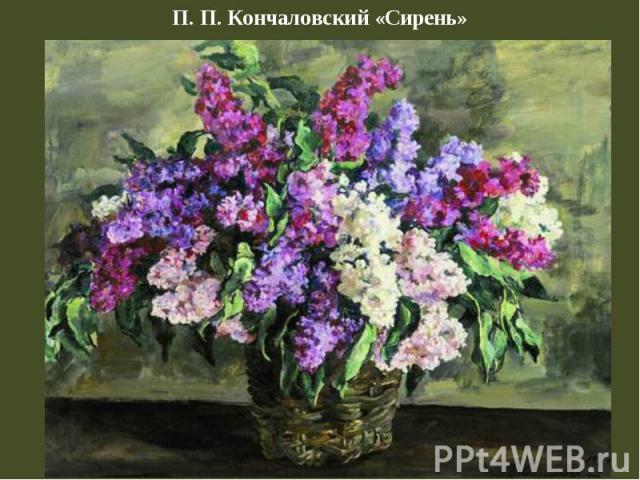 П. П. Кончаловский «Сирень»