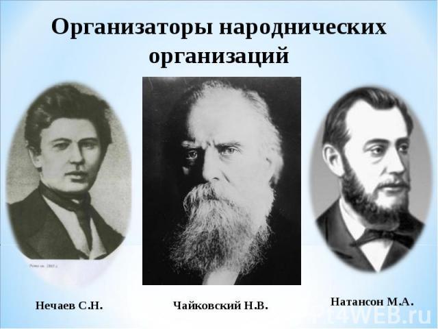Организаторы народнических организаций