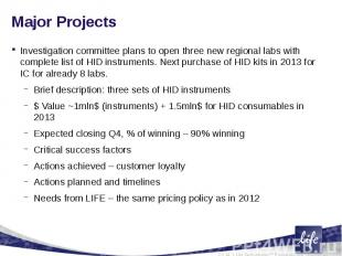Major Projects Investigation committee plans to open three new regional labs wit