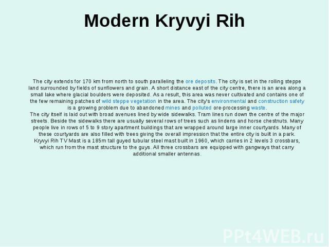 Modern Kryvyi Rih