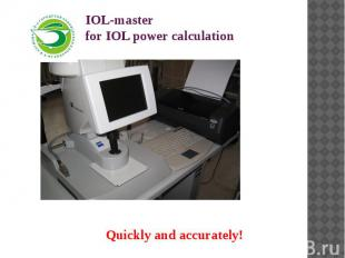 IOL-master for IOL power calculation