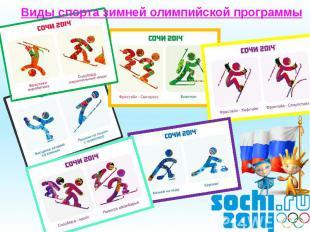 Виды спорта зимней олимпийской программы