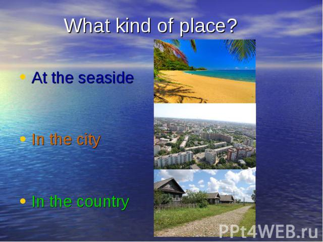 essay about seaside Essay - What kind of facilities should be allowed to be built on the seafront of a seaside town?