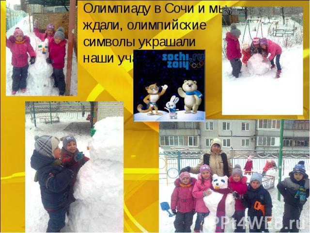 Олимпиаду в Сочи и мы ждали, олимпийские символы украшали наши участки.
