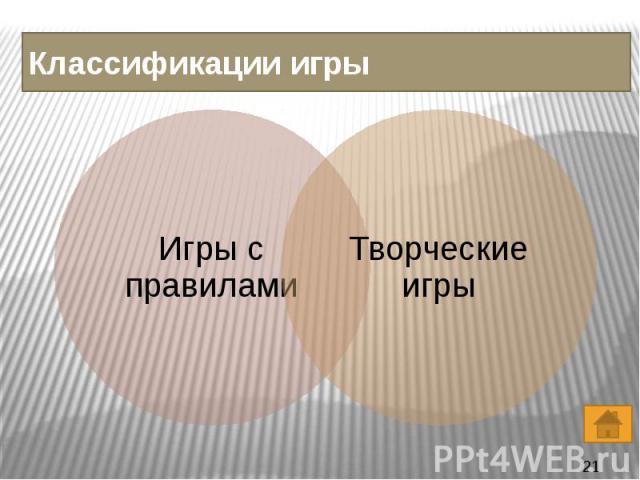 Классификации игры