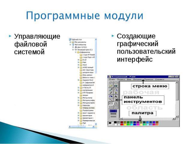 Управляющие файловой системой Управляющие файловой системой