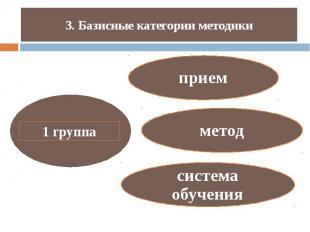 3. Базисные категории методики