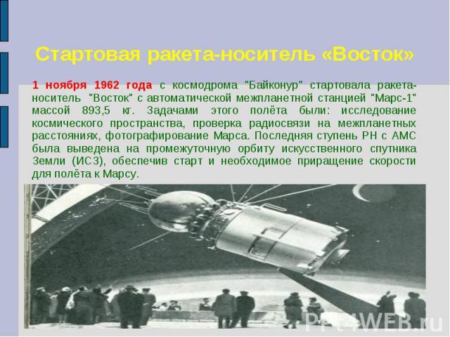 Стартовая ракета-носитель «Восток»