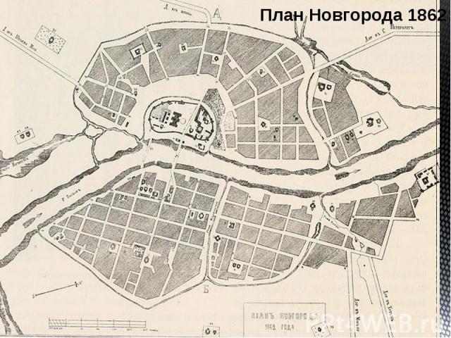 План Новгорода 1862