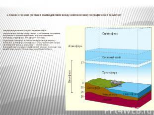 1. Каково строение (состав и взаимодействие между компонентами) географической о