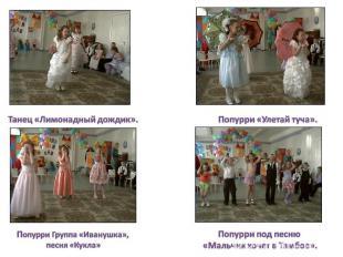 Танец «Лимонадный дождик». Попурри Группа «Иванушка», песня «Кукла» Попурри «Уле