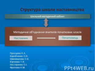 Структура школи наставництва
